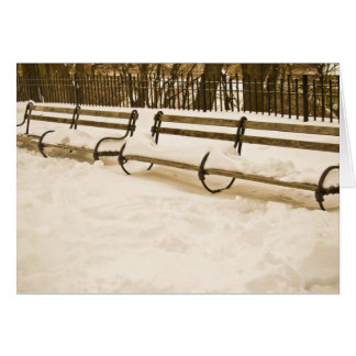 SNOW COVERED BENCHES CARD