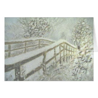 Snow Covered Bridge Card