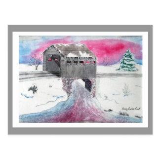Snow Covered Bridge Postcard