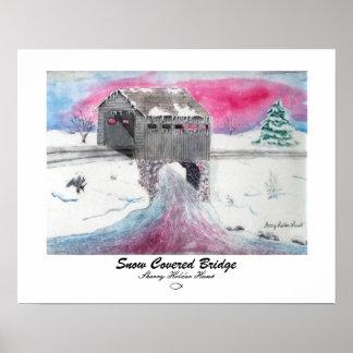 Snow Covered Bridge Print