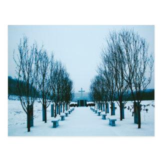 Snow-Covered Cemetery Postcards Postcard
