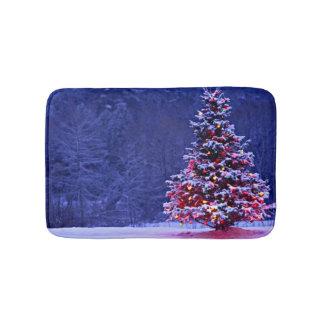 Snow Covered Christmas Tree Bath Mat