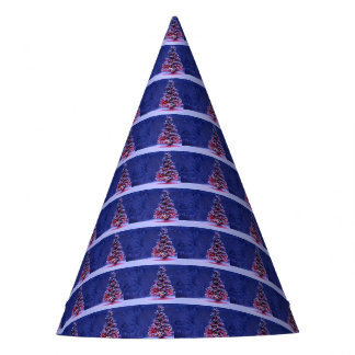Snow Covered Christmas Tree Party Hat