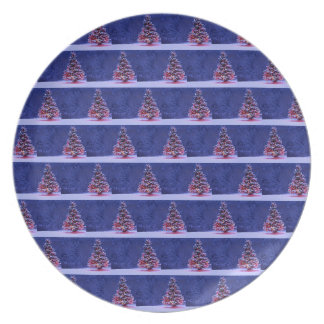 Snow Covered Christmas Tree Plate
