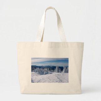 Snow covered Colorado Rocky Mountains Jumbo Tote Bag