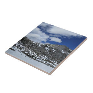 Snow Covered Donahue Pass - John Muir TraIl Ceramic Tile