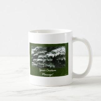 Snow-Covered Evergreen Branches Basic White Mug