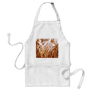 Snow Covered Grass Adult Apron