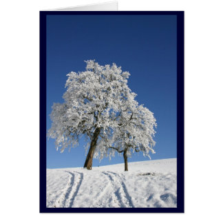 Snow Covered Hill Christmas Card