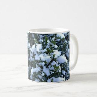 Snow-covered Holly Coffee Mug