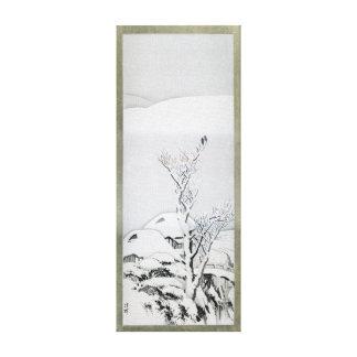Snow Covered Landscape - Japanese Art Canvas Print