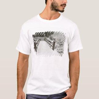 Snow-covered moon bridge, Japanese Garden T-Shirt