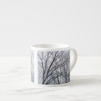Snow-covered Oak Tree Espresso Mug