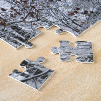 Snow-covered Oak Tree Jigsaw Puzzle