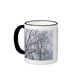 Snow-covered Oak Tree Ringer Mug