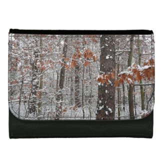 Snow Covered Oak Trees Winter Nature Photography Wallet
