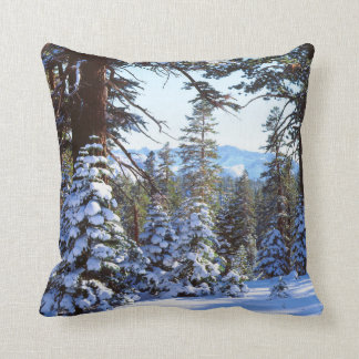 Snow-covered Red Fir trees in the High Sierra 2 Cushion