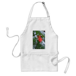 Snow covered rose standard apron