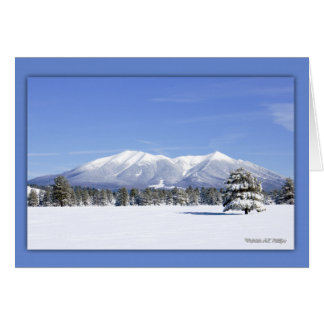 Snow Covered San Francisco Peaks Card