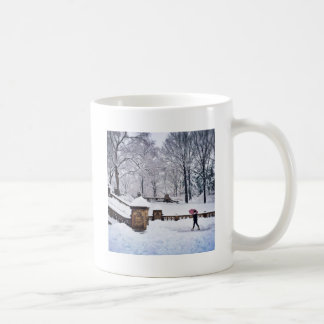 Snow-Covered Stairs In Central Park Coffee Mug