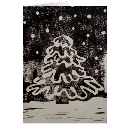 Snow Covered Tree Cards
