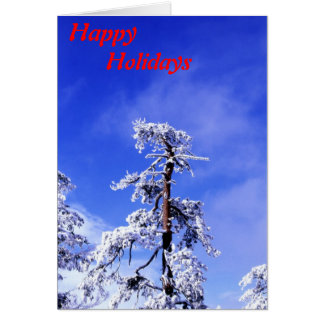 Snow covered tree card