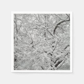 Snow-Covered Tree Napkins Disposable Napkin