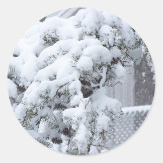 Snow Covered Tree Sticker