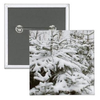 Snow Covered Trees Button