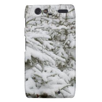 Snow Covered Trees Motorola Droid RAZR Covers
