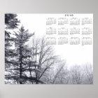 Snow-covered Trees: Horizontal 2018 Calendar Print