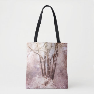 Snow Covered Trees on a Winter's Day Tote Bag