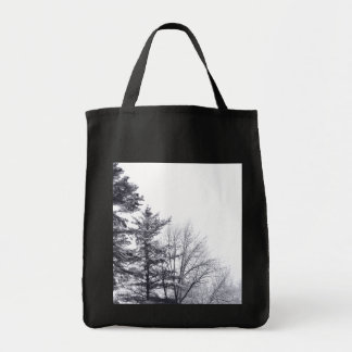 Snow-covered Trees: Vertical Grocery Tote Bag