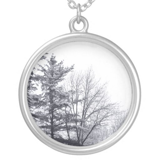 Snow-covered Trees: Vertical Jewelry