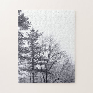 Snow-covered Trees: Vertical Puzzles
