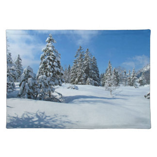 Snow-Covered Trees, Winter Scene Place Mat