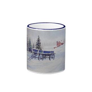 Snow Covered Wagon- mug