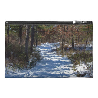 Snow Covered Woodland Path Travel Accessory Bag