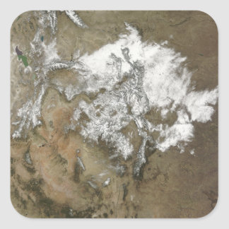 Snow covers the Rocky Mountains in United State Square Sticker