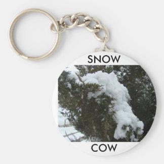 SNOW, COW BASIC ROUND BUTTON KEY RING
