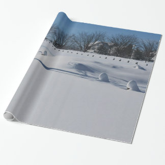Snow Crisp White Christmas Wrapping Paper