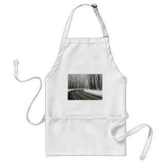 Snow Curved Winding Road Standard Apron