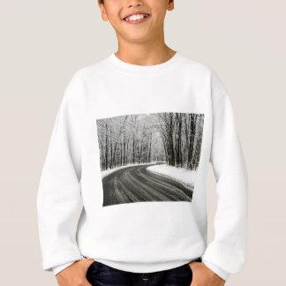 Snow Curved Winding Road Sweatshirt