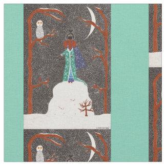 Snow Dachshund Fabric
