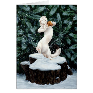 """Snow Dance"" Greeting Card"