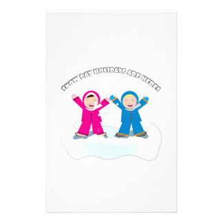 Snow Day Holidays Customized Stationery