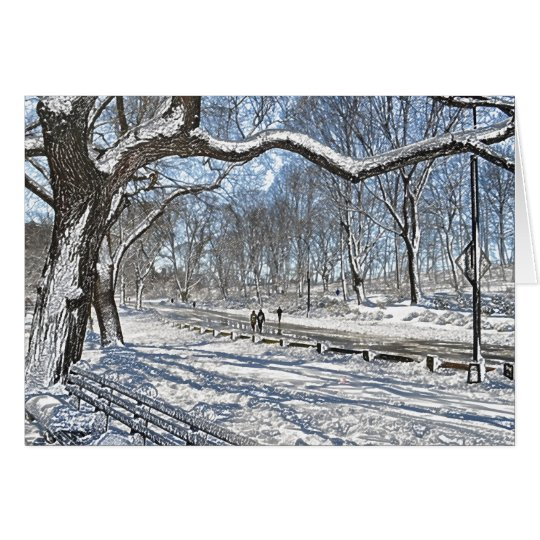 Snow Day in Central Park Card