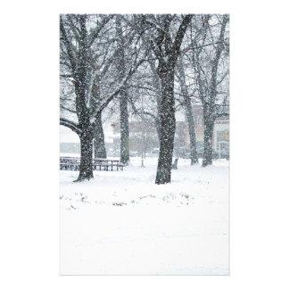 Snow day in Kahoka Mo. Stationery Design
