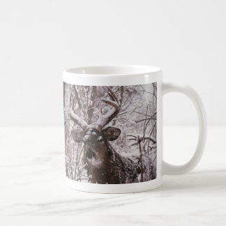 snow-deer coffee mug