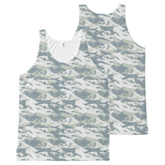 Snow disruptive camouflage All-Over print singlet